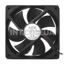 Вентилятор / DC / 120x120x25mm / 12V / 2.4W / MX