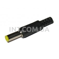 Штекер питания DC / 5,5х2,1х14mm / на кабель, пластик