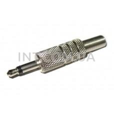 Штекер аудио / 3,5 mm / моно / на кабель / 2 вывода