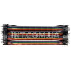 Шлейф 40 проводников / шаг 1,27 mm / цветной, L=30cm с разъемами BLS