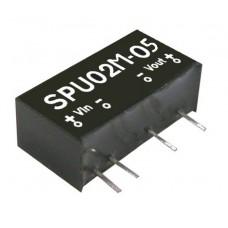 DC-DC преобразователь / SPU02M-05 / 2W / Uin=12V / Uout=5V / SIP7 / Mean Well