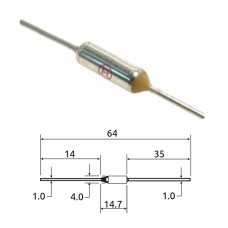Термопредохранитель / TZ D-184 / I=10A / U=250V / 184°С