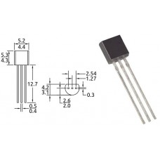 BC327-40ZL1 / транзистор PNP / Ic=0.8A / Uce=45V / f=100MHz / TO-92 / ONSEMI