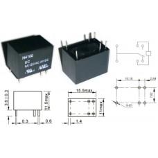 Реле N4100-CHS5-DC5V / I=5A / U=125VAC/30VDC / Ucoil=5VDC / NO/NC / 15x11x11mm / NINGBO / 6 ножек