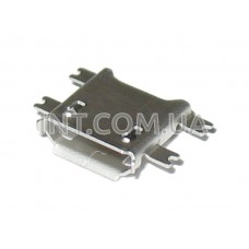Гнездо USB micro / на плату,  контакты на весу (smd) / 5 выводов / SMD