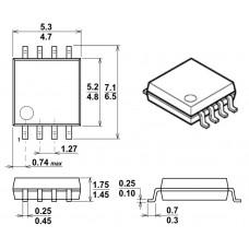 NJM4558M / ОУ, 2 канала, 3 MHz / DMP8 / JRC