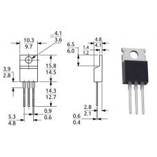 Симистор / BTA12-800BRG / I=12A / U=800V / TO-220 / ST