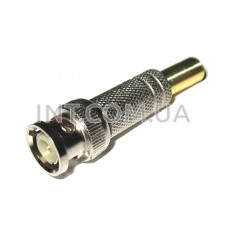 Штекер BNC / на кабель, под пайку / RG-6 / латунь