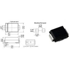 Супрессор / Ubr= 33.3V / P=600W / SMBJ30A / SMB / однонаправленный