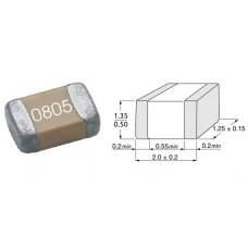 100nF / 50V / SMD 0805 / X7R / ±10% / 10 шт.
