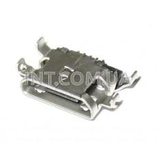 Гнездо USB micro / на плату,  контакты на весу / 5 выводов / SMD