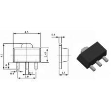 BCX53-16.115 / транзистор PNP / Ic=1A / Uce=80V / f=125MHz / SOT89