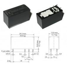 Реле FTR-K1CK012W / I=16А / U=250VAC/24VDC / Ucoil=12V / NO/NC / 29x12.8x16.5mm / FUJITSU