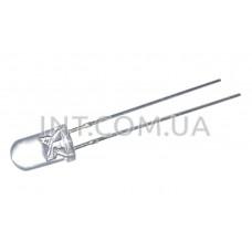 Светодиод / 5mm прозрачный / ультрафиолетовый 405nm / 20 mA / 20°