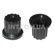 Ручка переменного резистора / пластик / цвет черный / паз / 12х16mm, h=15mm Dвн=6mm