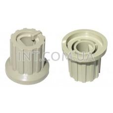 Ручка переменного резистора / пластик / цвет кремовый / паз / 12х16mm, h=15mm Dвн=6mm