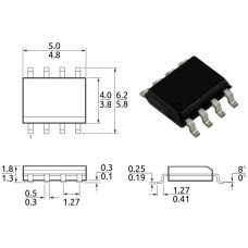 IRF7328 / транзистор 2xP-канал / Id=8/6.8A / Uds=30V / Rds=21/32mΩ / SO8 / IR