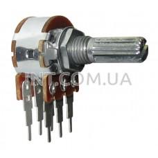 5K Om переменный стерео / WH148-1B-3-18T-B502-L20  / L=15mm / звезда / лин. / 0.125W / KLS